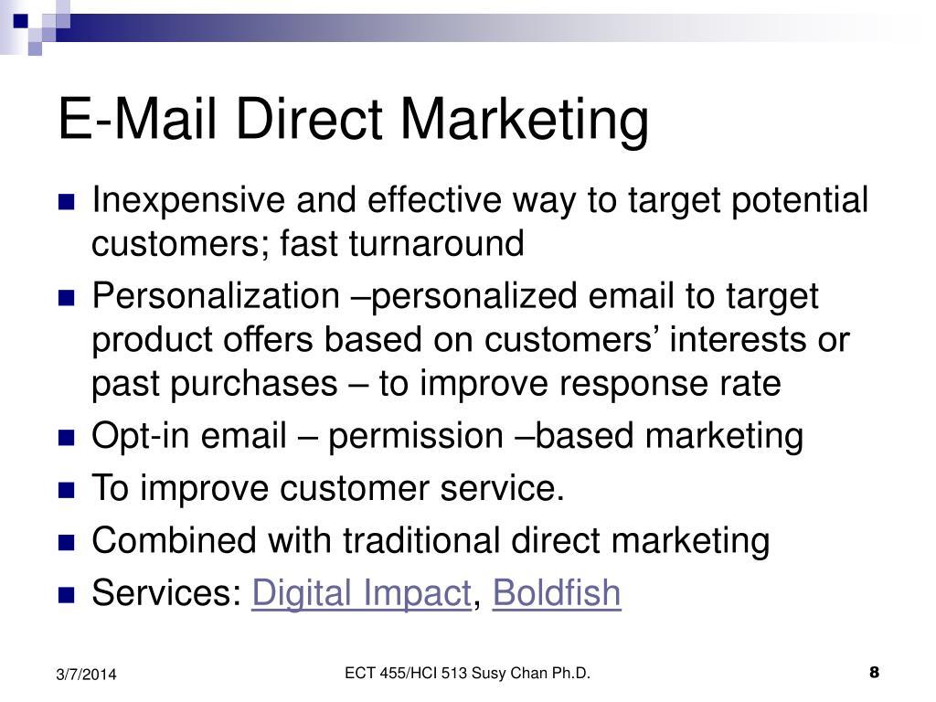 E-Mail Direct Marketing