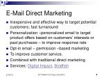 e mail direct marketing