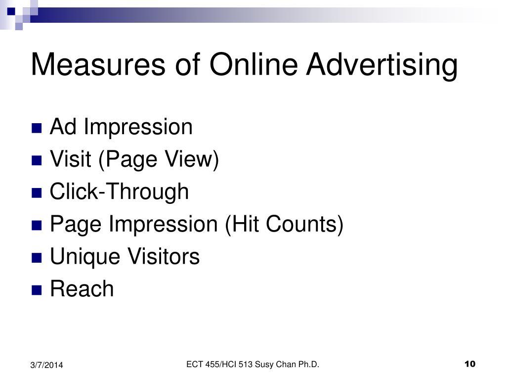 Measures of Online Advertising