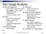 site usage analysis