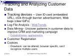 tracking and analyzing customer data