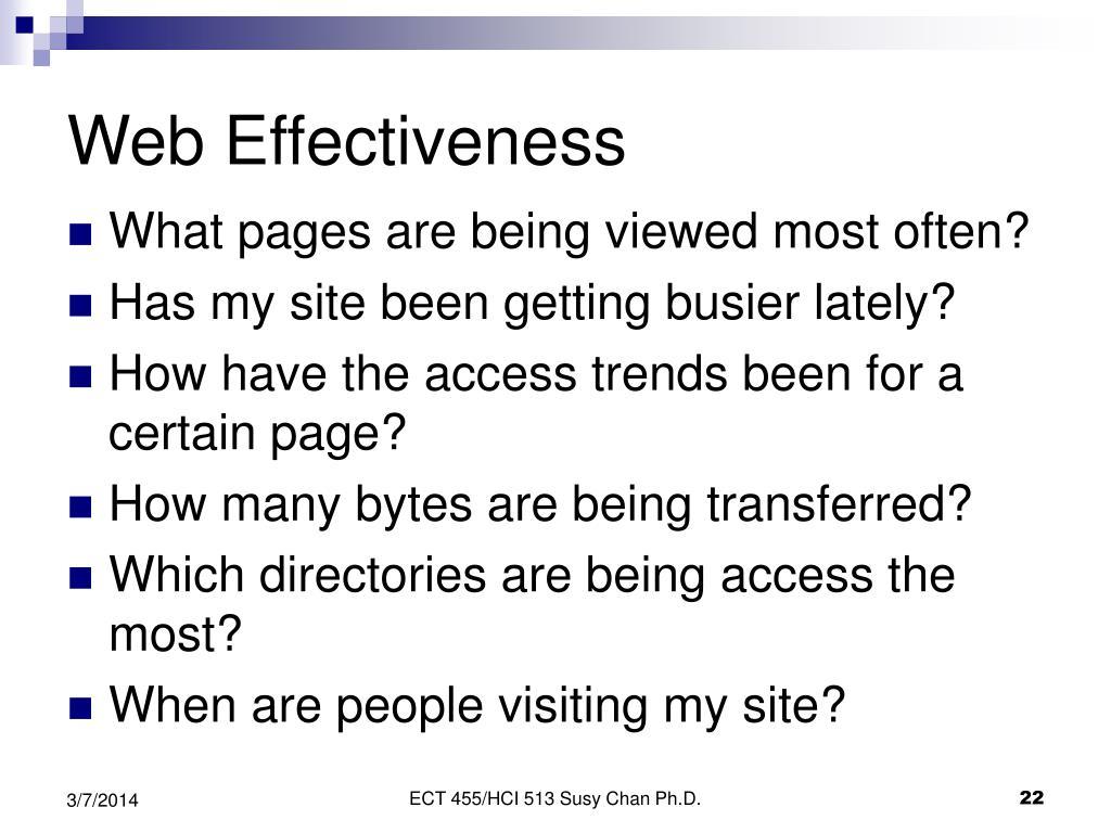 Web Effectiveness