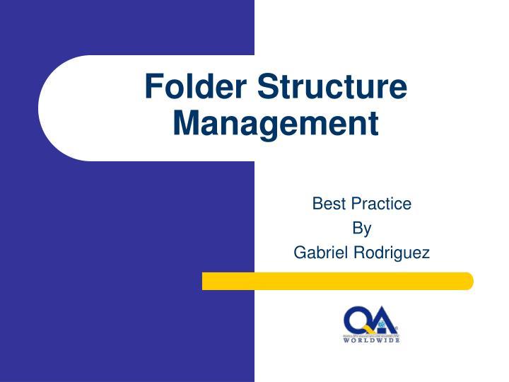 folder structure management n.