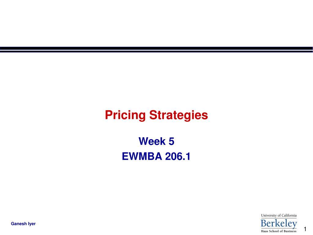 pricing strategies l.