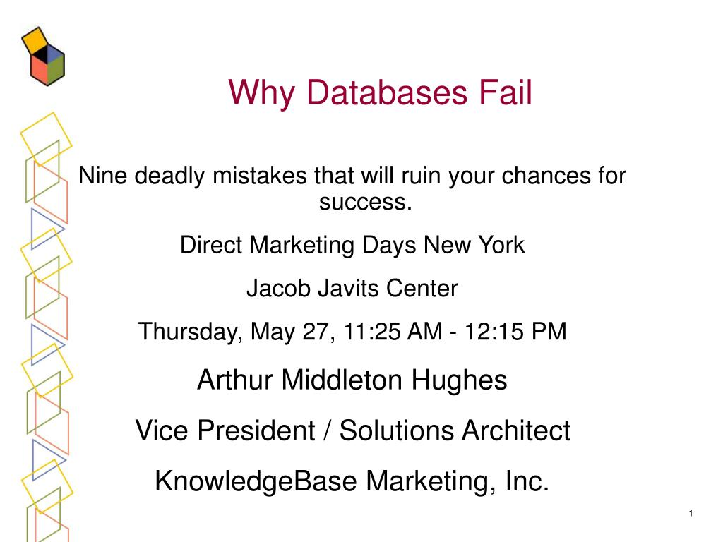 why databases fail l.