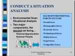 conduct a situation analysis12