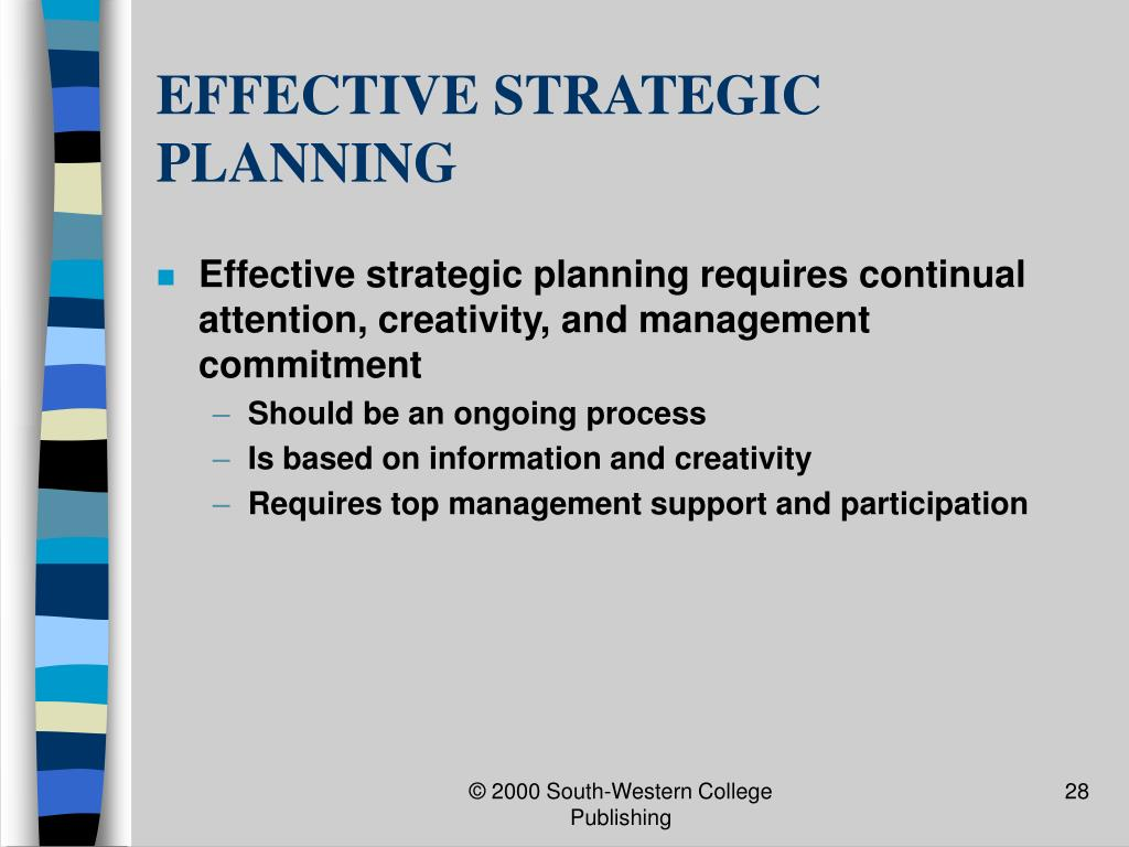 EFFECTIVE STRATEGIC PLANNING
