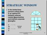 strategic window