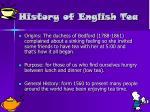 history of english tea