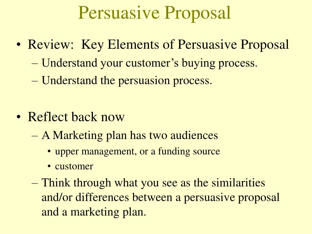 Persuasive Proposal