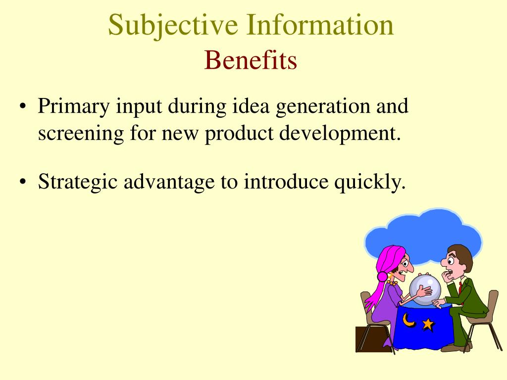 Subjective Information
