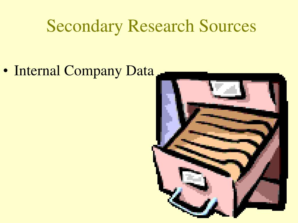 Secondary Research Sources