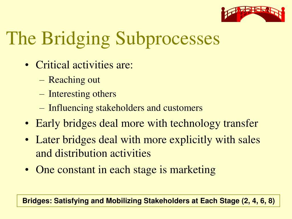 The Bridging Subprocesses