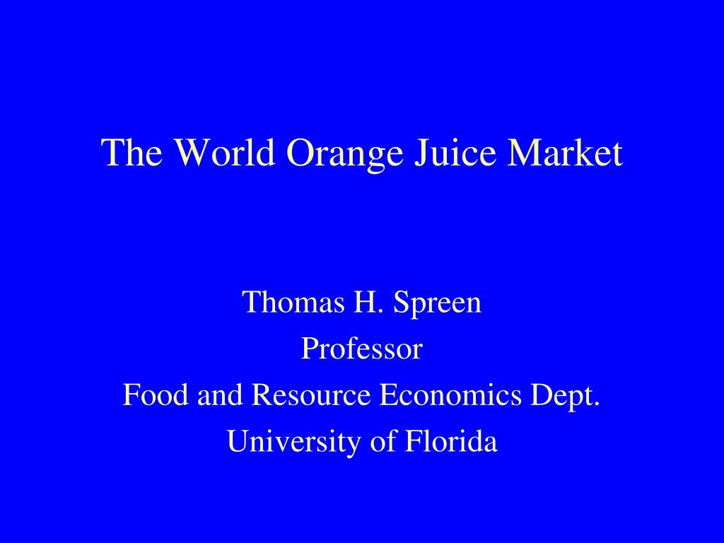 the world orange juice market l.