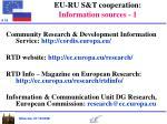 eu ru s t cooperation information sources 1