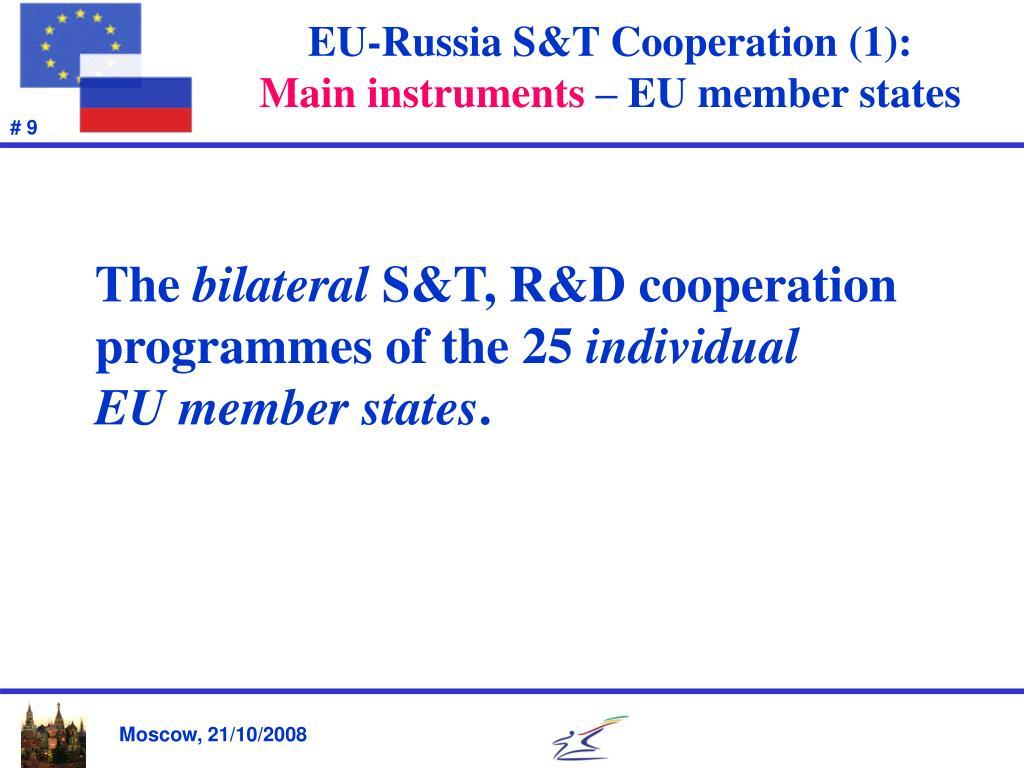 EU-Russia S&T Cooperation (1):