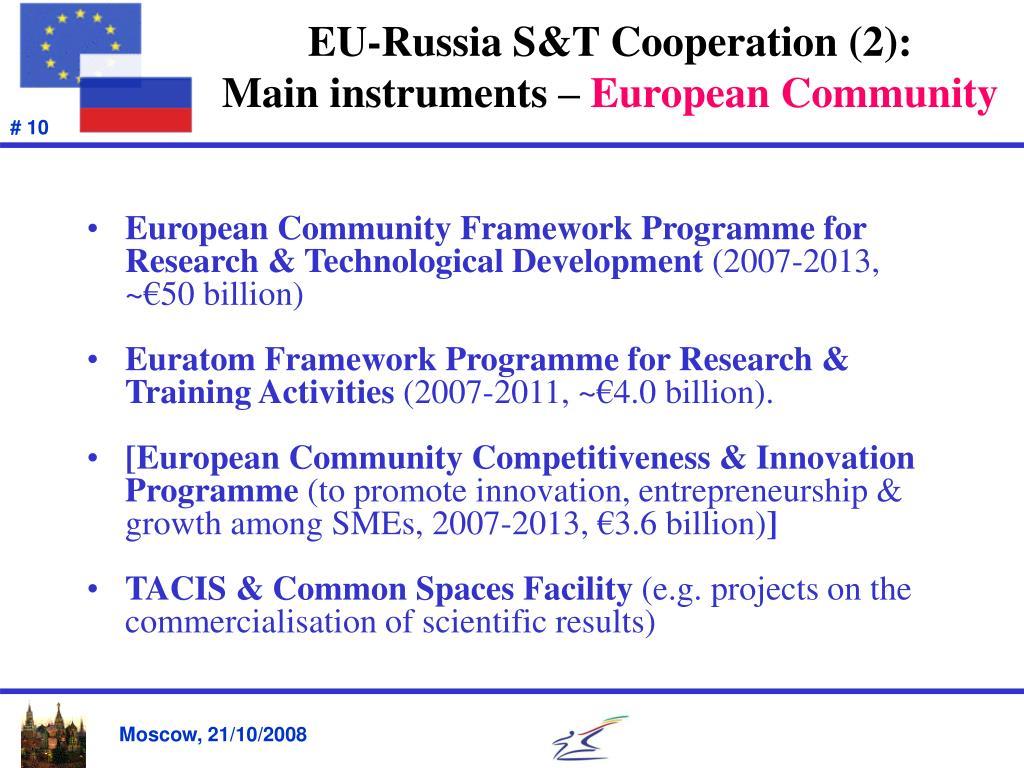 EU-Russia S&T Cooperation (2):