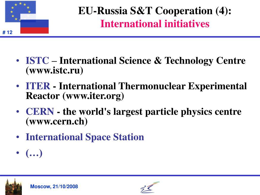 EU-Russia S&T Cooperation (4):
