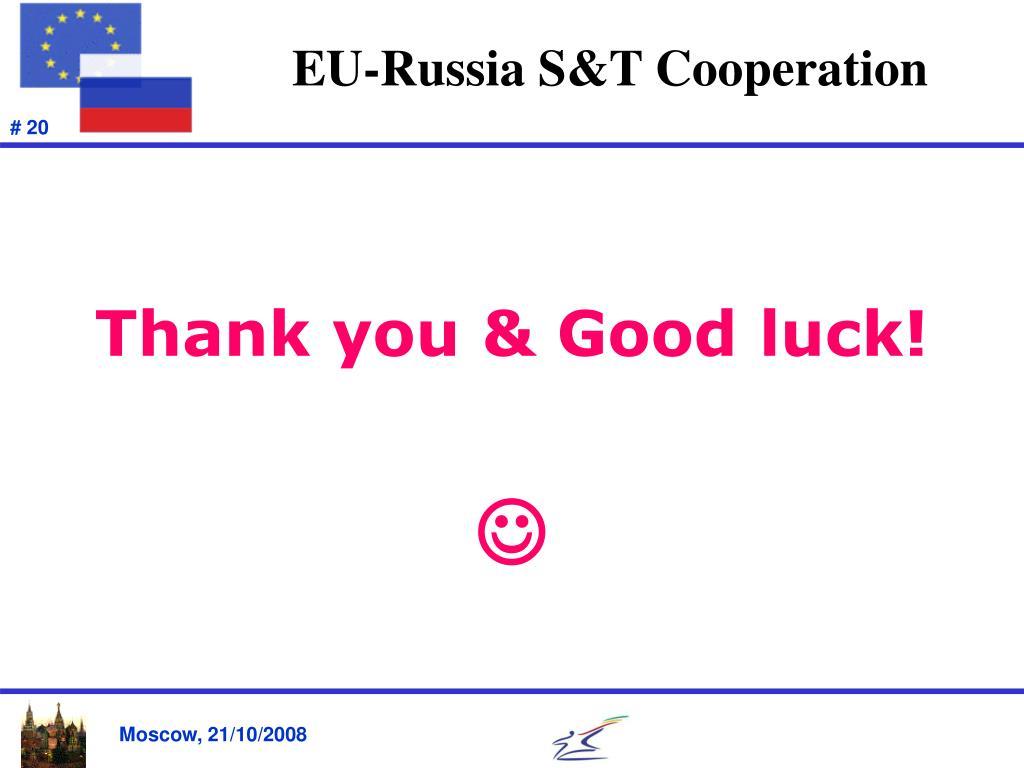EU-Russia S&T Cooperation