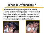 what is afterschool