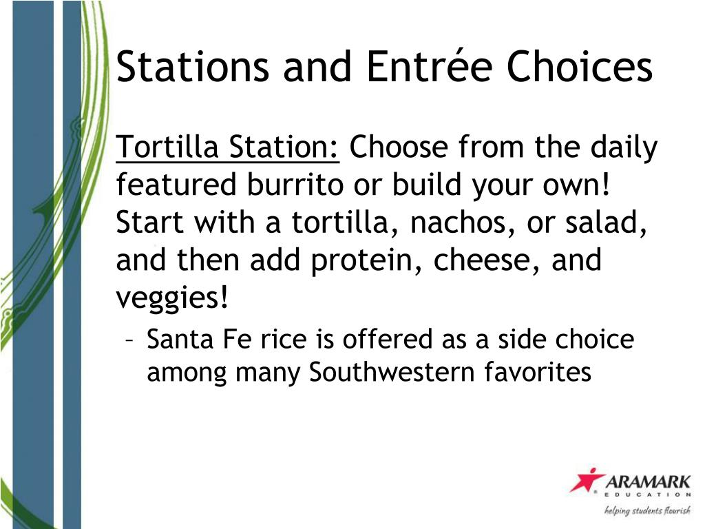 Stations and Entrée Choices