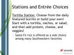 stations and entr e choices9