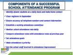 components of a successful school attendance program