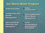 our storm water program
