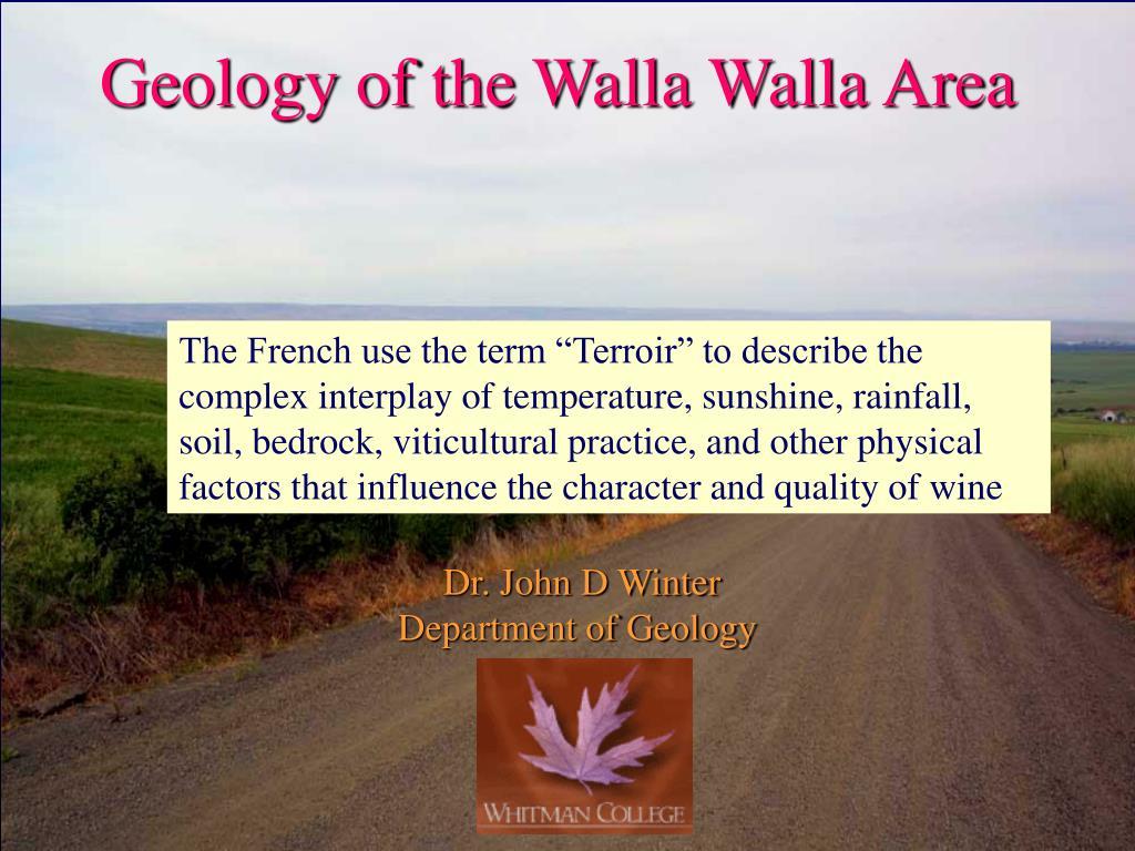 geology of the walla walla area l.