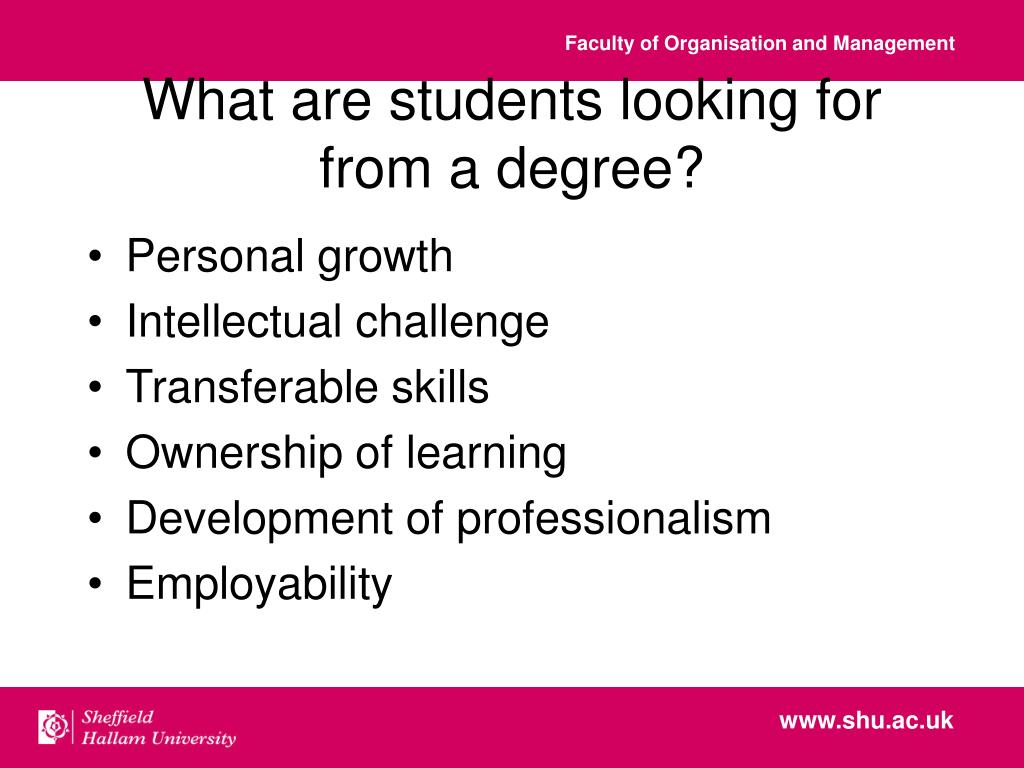 What are students looking for from a degree?