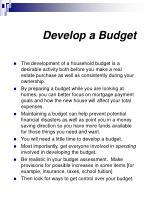 develop a budget