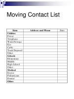 moving contact list