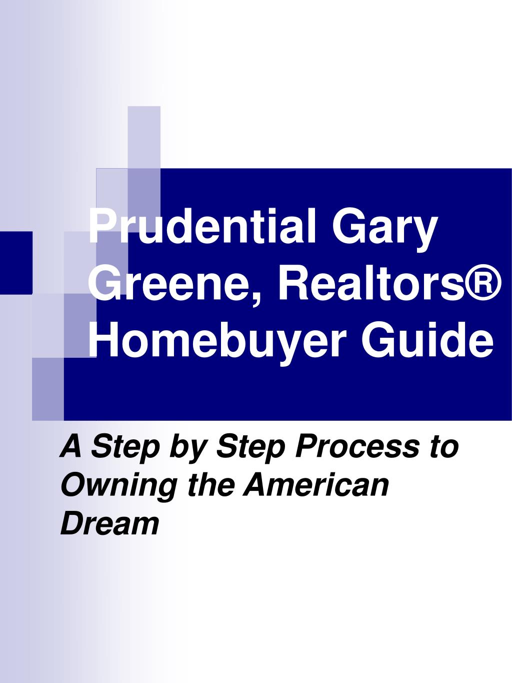 prudential gary greene realtors homebuyer guide l.