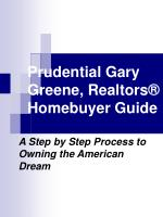 prudential gary greene realtors homebuyer guide