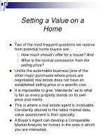 setting a value on a home