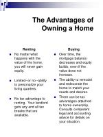 the advantages of owning a home