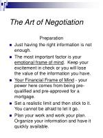 the art of negotiation26