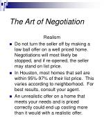 the art of negotiation27