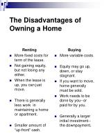 the disadvantages of owning a home