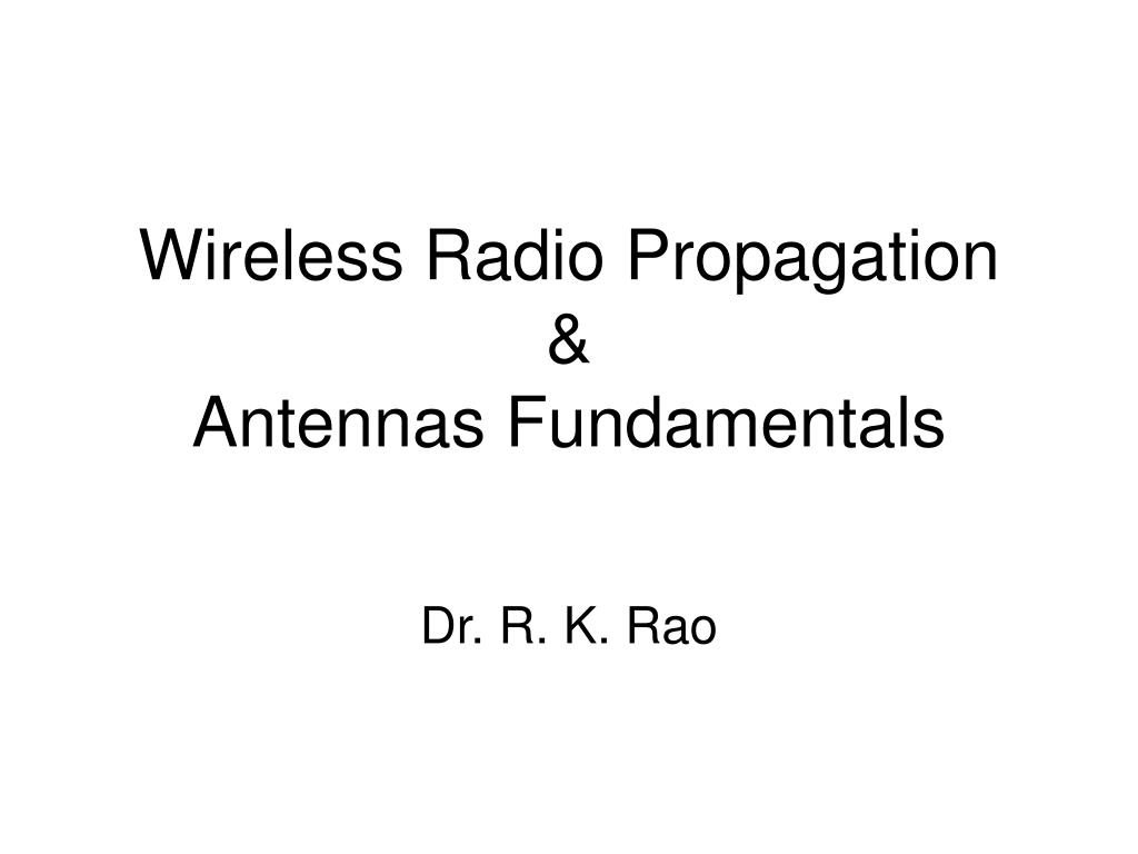 wireless radio propagation antennas fundamentals l.
