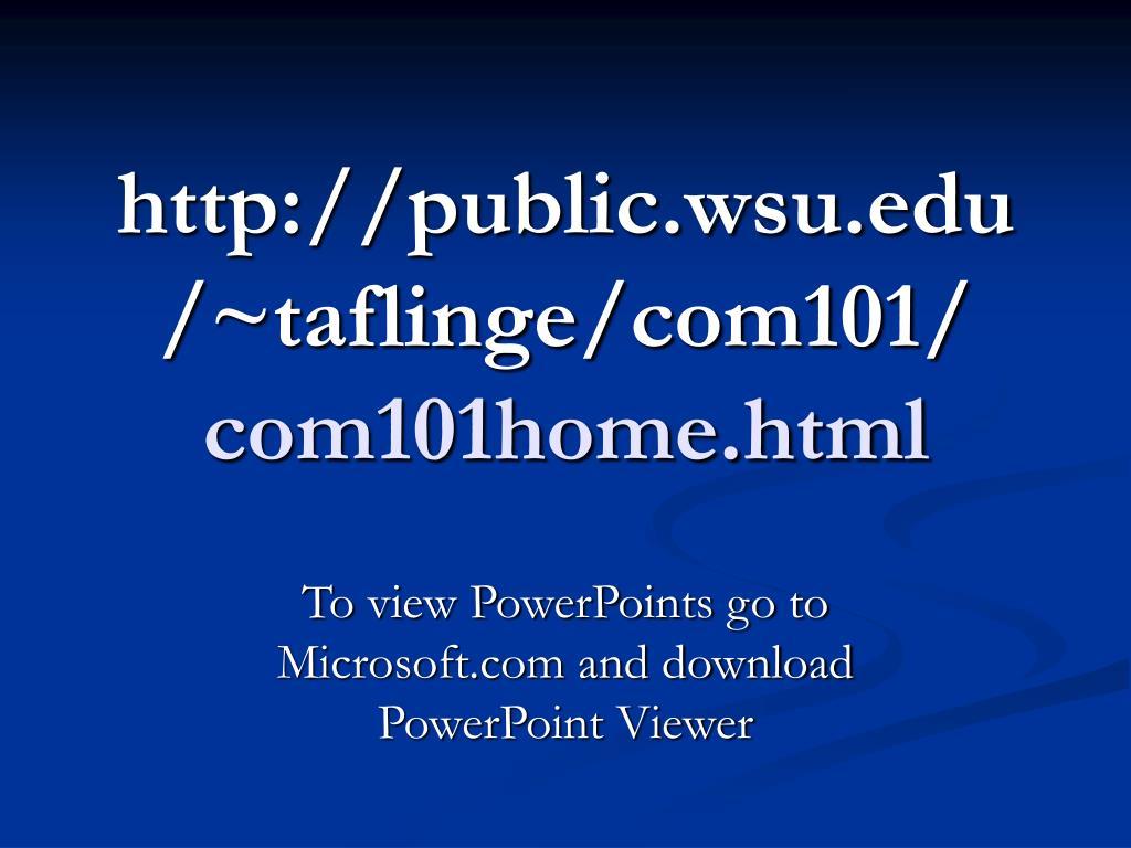 http public wsu edu taflinge com101 com101home html l.