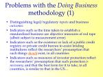 problems with the doing business methodology 1
