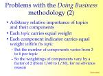 problems with the doing business methodology 2