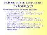 problems with the doing business methodology 38