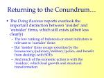 returning to the conundrum29
