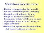 soeharto as franchise owner