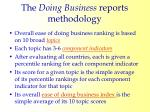 the doing business reports methodology