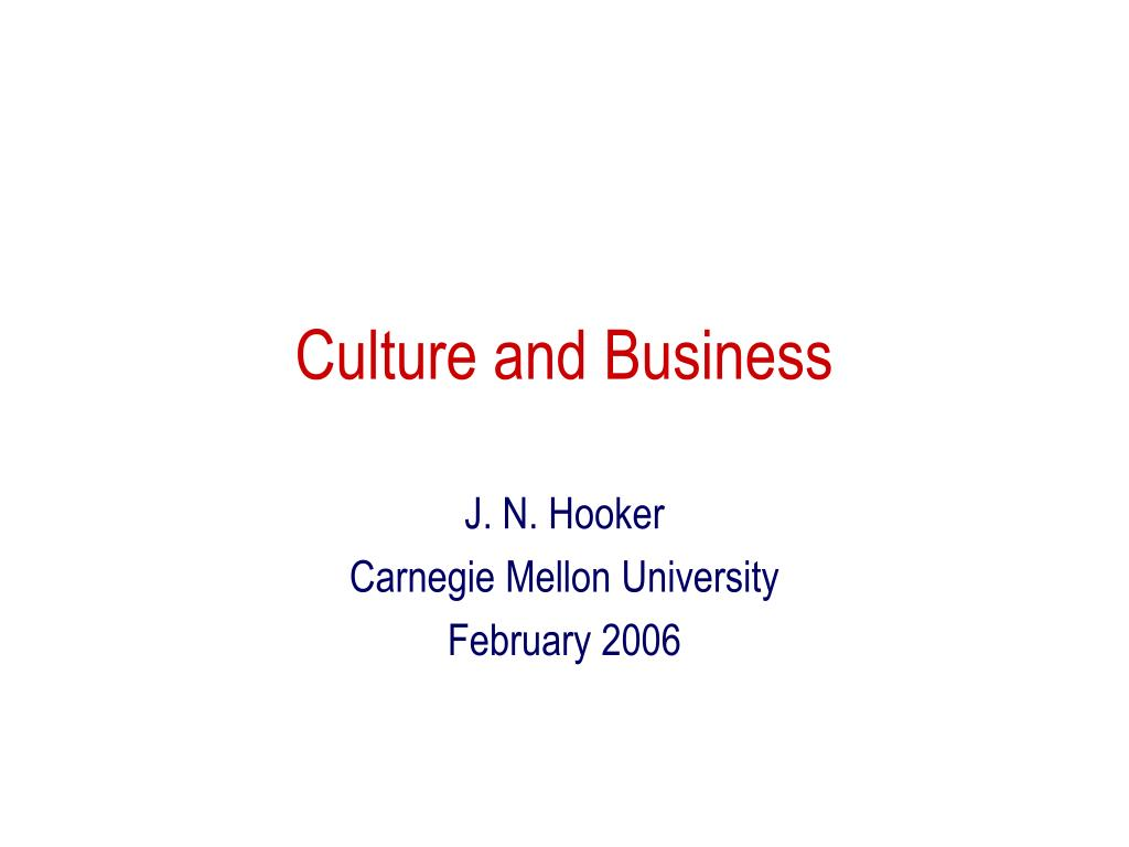 culture and business l.