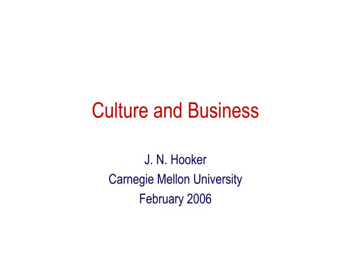 culture and business n.
