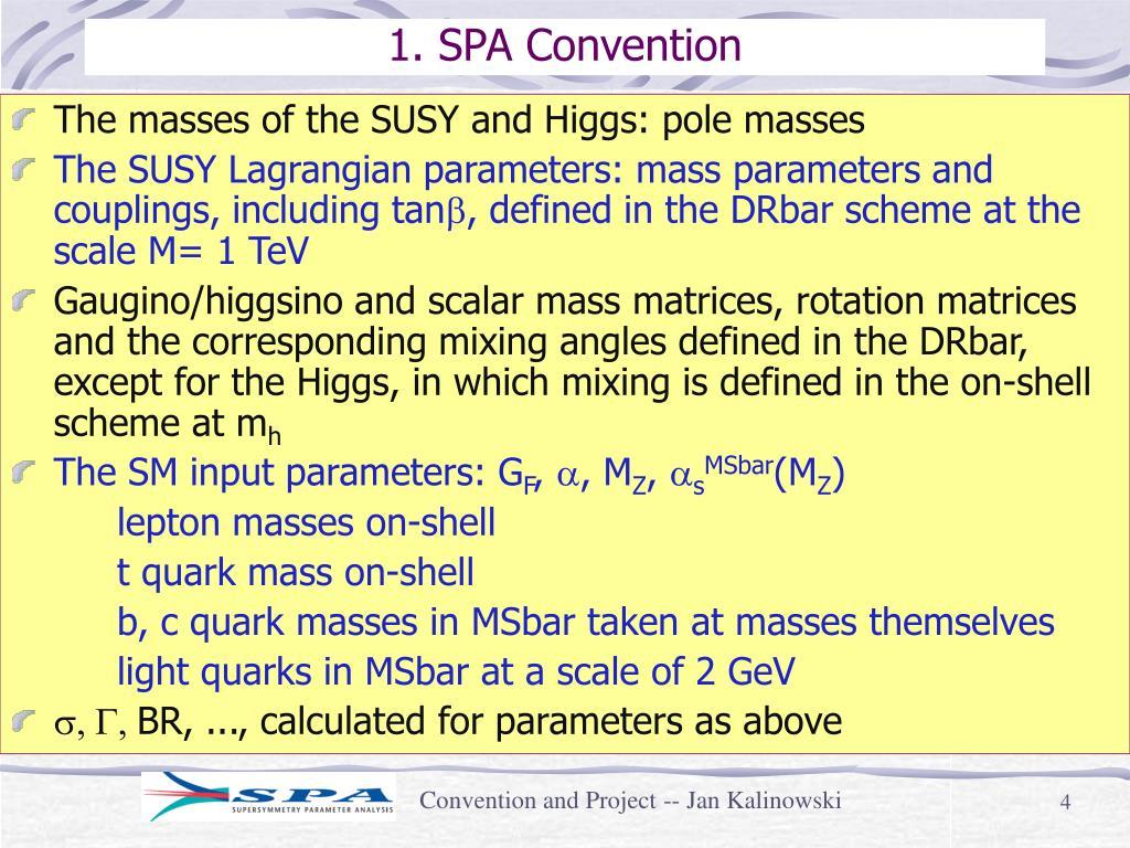 1. SPA Convention